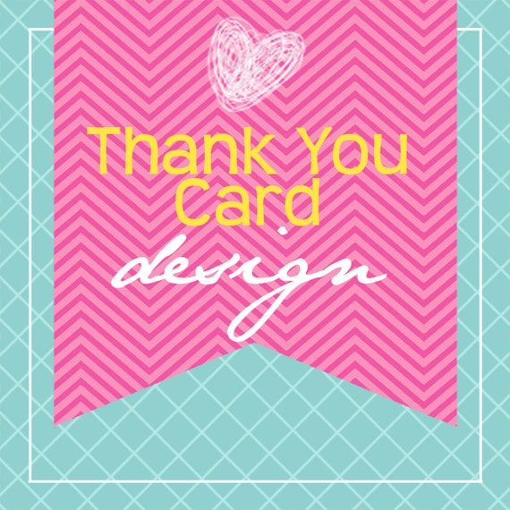 Matching Printable Thank You Card Design...by KM Thomas Designs