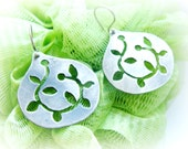 Sterling silver Pomegranate earrings - New year good luck charm - Lucky charm for her earrings