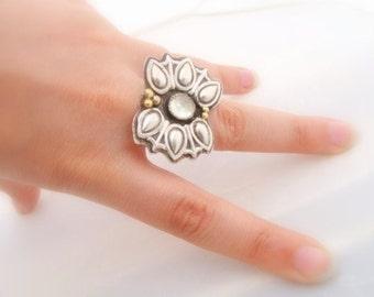 Arrow Ring sterling silver - sagittarius ring - Boho ring - Metalwork Cocktail ring sterling silver