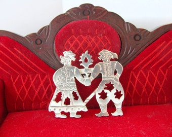 Wedding Silver Jewelry Brooch - Married Couple brooch silver - Greek Artisan Jewelry Sterling Silver - Traditional Sterling Silver Jewelry