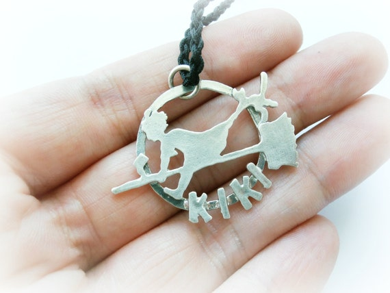 Kiki's Delivery Service Jewelry - Kiki Witch Necklace Sterling Silver - Halloween Sterling Silver Necklace