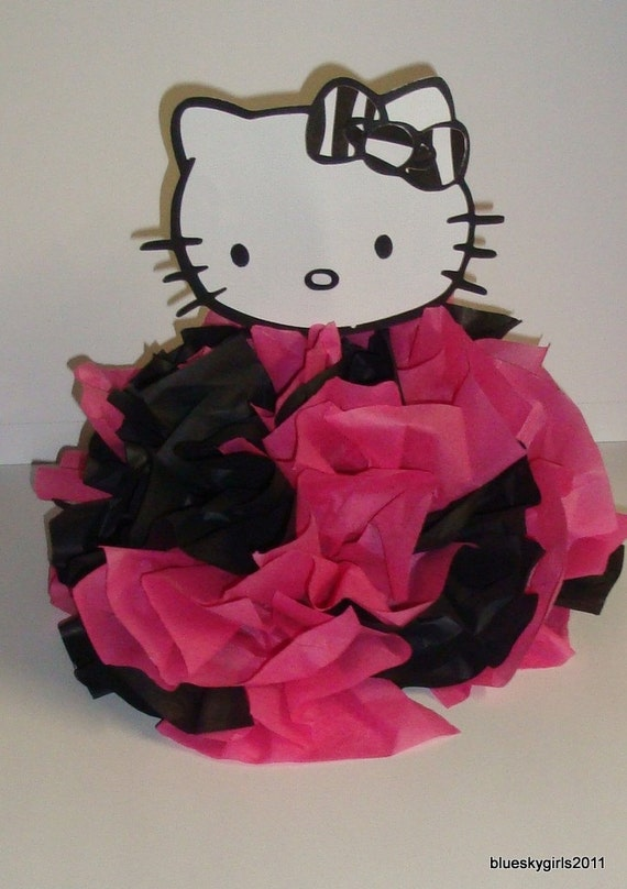 Items similar to hello kitty table centerpiece decoration for Table exterieur hello kitty