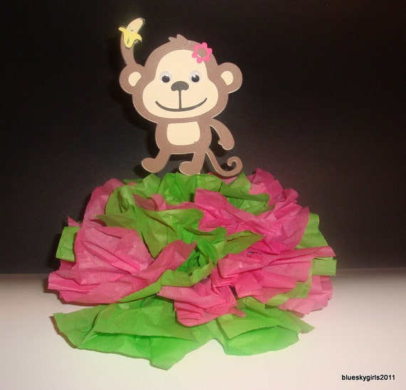mod monkey centerpiece decoration monkey baby shower mod monkey