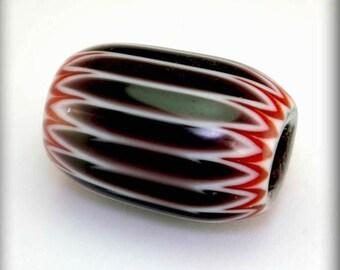 Classic Seymour Chevron Bead, Purple, Red, White 5 layer