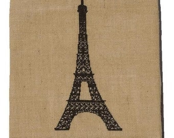 Cross stitch pattern EIFFEL TOWER - french,paris,handmade,diy,needlepoint,embroidery,linen,burlap,black,hessian,pillow cover,anetteeriksson