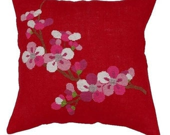 Cross stitch pattern CHERRY BLOSSOM - chinoiserie,embroidery pattern,cross stitch,needlepoint pillow,needlepoint,anette eriksson,embroidery