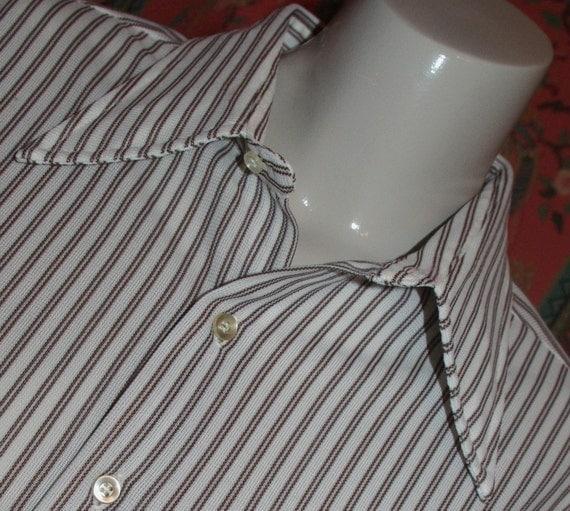 60s Pin Stripe Shirt by John Blair    L / XL  unisex
