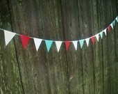 Fourth of July Mini Penant Garland-6ft-Patriotic Penant Banner-Mini Paper Penant Garland For Independence Day