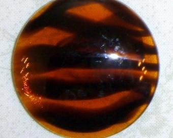 Huge Round Vintage Tortoise Shell Glass Cabochon, 40 MM