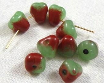 Glass Anjou Pear Beads, 15