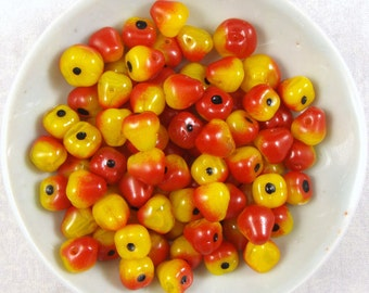 Glass Bosc Pear Beads, 15