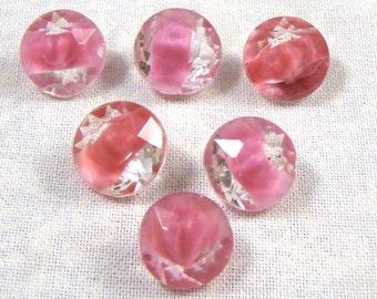 Vintage Rose Pink Givre Rhinestones, 48SS, 6