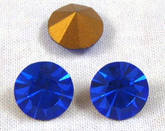Vintage Swarovski Sapphire Rhinestones, Article 1100, 48SS, 4