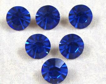 Vintage Optima Crystal Sapphire Rhinestones, 47SS, 4