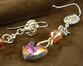 Red Hot Mama Swarovski Earrings by Beadinmama