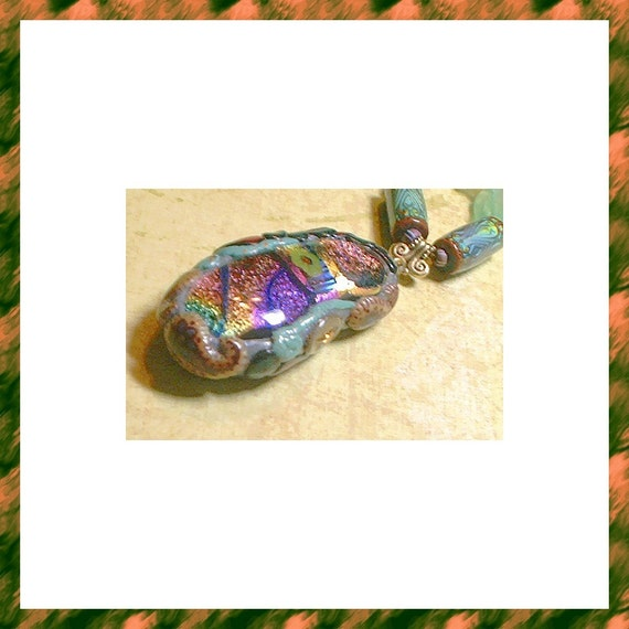 BEADINMAMA'S Happy Paisleys and Moody Roses Necklace