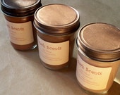 3- 8oz Pure Soy Hand poured Candles -Scents of your choice