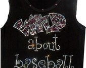 Wild About Baseball and Football Tanks or Tees for Girls