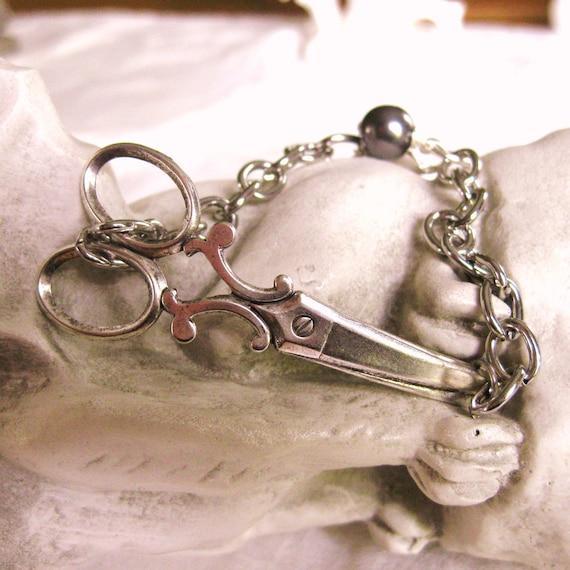 Silver Scissor Bracelet  LITTLE SNIPS