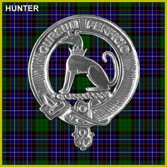 Hunter Clan Crest Scottish Cap Badge Cb02