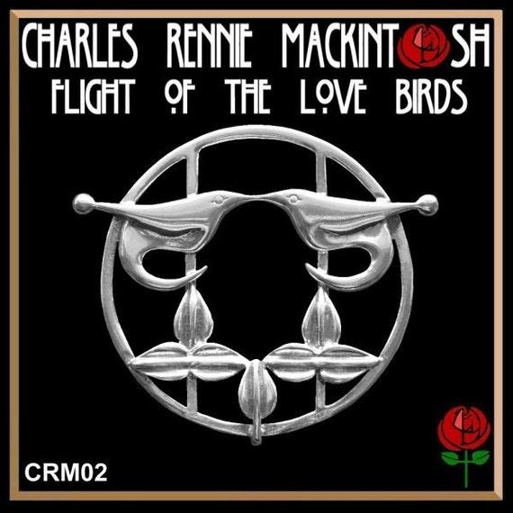 Charles Rennie MacKintosh Flight Of The Love Birds Brooch CRM02