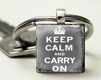 Keep Calm and Carry On Vintage Grey