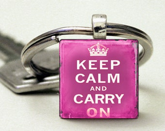 Keep Calm and Carry On Vintage Pink
