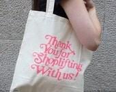 Shoplift tote bag