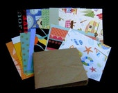 Paper Bag Album Mini Kit with HAPPY TRAILS paper from K and Co