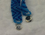 SALE Blue Moon Glass Bracelet
