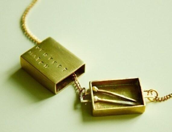 A Perfect Match - Matchbox Necklace