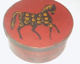 Paper Mache Polka Dot Colonial Horse Box 105