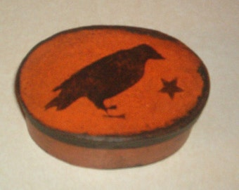 Paper Mache Vintage Crow Box