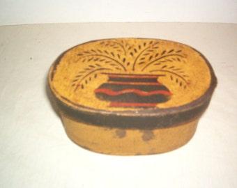 Paper Mache Mustard Therom Box