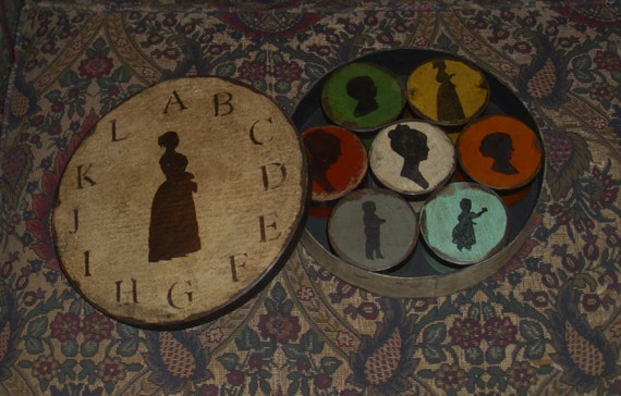 Paper Mache Colonial Silhouette Set of Seven