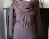 Brown Sweatshirt Dress Size 6-8 Petite in Brown Melange (Was 98USD)