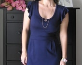 Little Blue Dress With Ruffled Sleeves