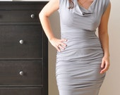 Light Grey Pencil Dress, Custom Dress, Cocktail Party Dress, Sexy Dress