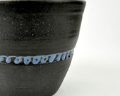 Blue Squiggle 4 inch Flower Pot