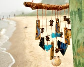 Reserved for JR - Seaside Echoes wind chime beach handmade mobile