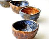 Reserved - gorgeous handmade mismatch ceramic bowls - set of 40