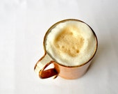 Large Ceramic Mug - Hazelnut Latte 23ounce Scroll Handle Cup