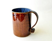 Reserved for Minnie: Coffee Mug - Leather and Denim Cup Scroll Handle 23-oz mug