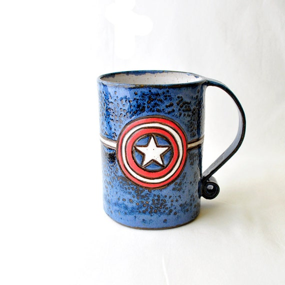 Reserved For Beth Three Captain America Coffee Mugs 23 Ounce