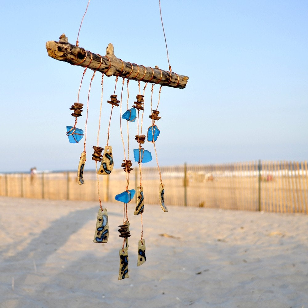 Blue Sky Eclectic Artisan Handmade Wind Chime Mobile