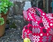 Scarlet Hobo Bag ( small) Welsh tapestry