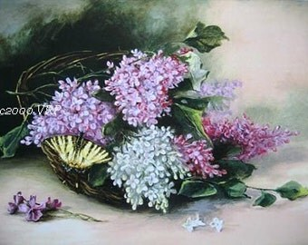 French Lilacs Print Catherine Klein Floral Flower Lilac