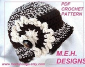 CROCHET PATTERN  hat, number 261....... Annette Bucket Hat, Adult size. chunky style, instant digital download