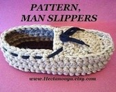 Crochet Slippers Pattern - Men's crochet slippers, moccasins,  #173 - MAN SLIPPERS, Extra small, 10 inch sole, to Extra large,12 inch sole.