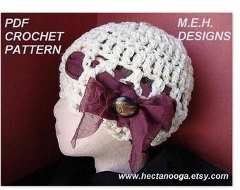 CROCHET HAT PATTERN, Crochet Hat, Hat Pattern, Crochet Pattern, Womens Hat Pattern, Womens Hat, Instant Download - Delilah # 116